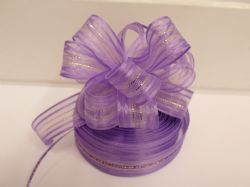 Lilac light Purple 2 or 25 metres 25mm Fasbo Pull Bow Ribbon Roll Craft Double Side Bows UK